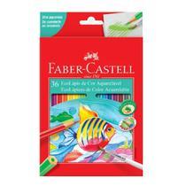 Lápis de Cor Sextavado Aquarelável 36 Cores Faber Castell -