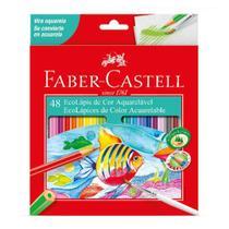 Lápis de Cor Sextavado Aquarelável 48 Cores Faber Castell - Faber-Castell