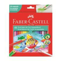 Lapis de Cor Sextavado Aquarelavel 48 Cores Faber Castell -