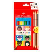 Lápis de Cor Sextavado Caras e Cores 12 Cores+3 FaberCastell - Faber-Castell