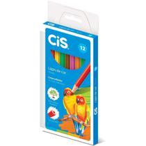 Lapis de COR Sextavado CIS Plastic 12 Cores - Planeta Criança -