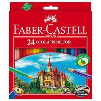 Lapis de cor sextavado ecolapis 24 cores s/kit pct.c/06 - Faber-Castell