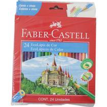 Lapis de cor sextavado ecolapis 24cores pct/06 kit c/04 - Faber-Castell