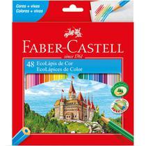 Lapis de COR Sextavado Ecolapis 48 Cores - Faber-Castell