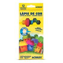 Lápis de Cor Sextavado Estojo com 12 cores - Acrilex -