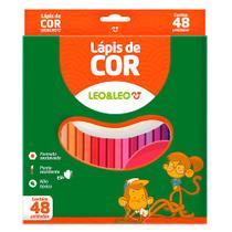 Lápis de Cor Sextavado Estojo com 48 cores - Leo&Leo -