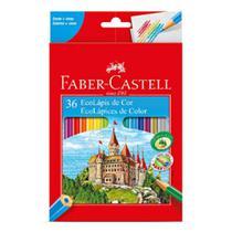 Lapis de Cor Sextavado Faber-Castell Ecolapis - 36 Cores -