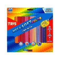 Lapis De Cor Sextavado Mega Soft Color 60cores Summit -