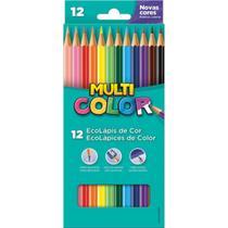Lapis de cor sextavado multicolor super eco 12 cores c/12 un - Faber-Castell