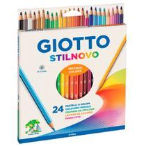 Lápis de Cor Sextavado Stilnovo 24 Cores - Giotto -