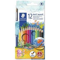 Lápis de Cor Staedtler Aquarelável 12 Cores + Pincel -