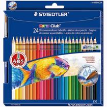 Lápis de Cor Staedtler Aquarelável 24 Cores + Pincel -
