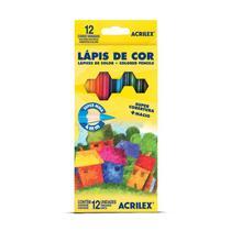 Lápis De Cor Super Mina 12 Cores Acrilex -