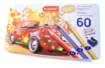 Lápis de Cor Super Sixties Beetle Estojo com 56 Cores + 2 Lápis, Borracha, Apontador Bruynzeel -