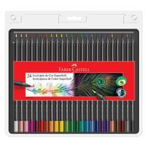 Lápis de cor Super Soft 24 cores 120724SOFT Faber-Castell -