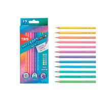 Lapis De Cor Tons Pastel 12 Cores TRIS Mega Soft Color -