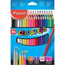 Lapis de cor triangular color peps 36 cores estojo - Maped