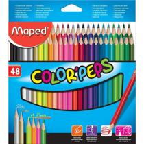 Lapis De Cor Triangular Color Peps 48 Cores Maped -