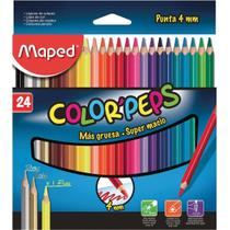 Lapis de cor triangular color peps 4mm 24cores pct.c/04 - Maped
