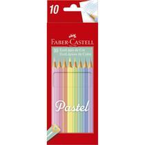 Lapis de cor triangular ecolapis tons pasteis 10 cores c/12 - Faber-Castell