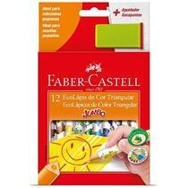 Lapis de Cor Triangular Jumbo 12 Cores Faber e Apontador Faber Castell -