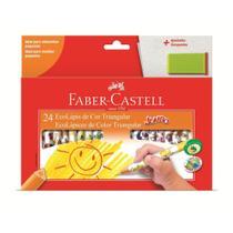 Lapis de Cor Triangular Jumbo 24 Cores Faber e Apontador Castell - Faber Castell