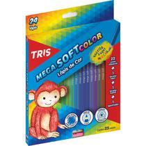 Lapis de COR Triangular Mega SOFT Color 24CORES - Gna