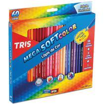 Lapis de COR Triangular Mega SOFT Color 60CORES - Gna