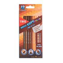Lapis de Cor Triangular Mega Soft Color Tons de Pele 12 Cores Tris -