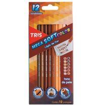 Lápis De Cor Triangular Mega Soft Tons de Pele Tris -