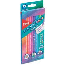 Lapis de cor triangular mega soft tons pastel 12cores c/06 - Summit