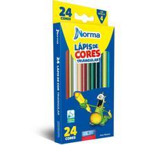 Lapis de COR Triangular Norma 24 Cores C/APONTADOR - GNA