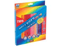 Lápis de Cor Tris Mega Soft - 48 Cores com Apontador -