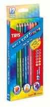 Lápis de Cor Tris Mega Soft Color 12 cores -