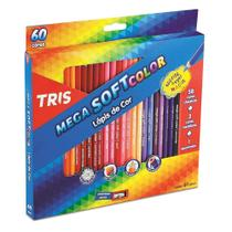 Lápis de Cor Tris Mega Soft Color 60 Cores 684062 -