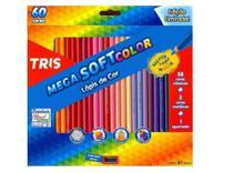 Lápis de Cor Tris Mega Soft Color 60 cores -