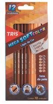 Lápis De Cor Tris Mega Soft Color Tons De Pele 12 Cores -