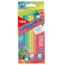 Lápis de Cor Tris Mega Soft Color Tropical 012 Cores 607740 -