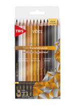 Lápis de Cor Tris Vibes 12 Cores Tons Escandinavos 607702 -