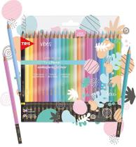 Lápis De Cor Tris Vibes Pastel 24 Cores -