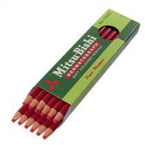 Lápis Dermatográfico Mitsubishi 7600 Vermelho C/12 -