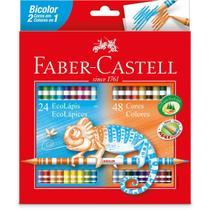 Lapis Ecolapis Bicolor 48 Cores - Faber-Castell