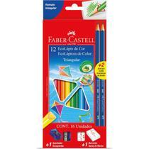 Lapis Ecolapis Longo 12CORES+2GRAF - Faber-Castell