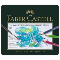 Lápis Faber-Castell Albrecht Durer Aquarelável  - Estojo Metálico com 24 Cores - Ref 117524 - Faber Castell