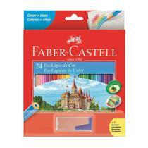 Lapis Faber-Castell Sextavado 24 EcoLápis de Cor 120124+1APT -