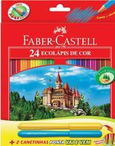 Lapis Faber-Castell Sextavado 24 EcoLápis de Cor 120124+2VV -