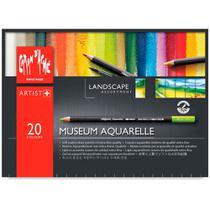 Lápis Mina Aquarelável Caran D'Ache Museum Aquarelle Landscape com 20 Cores - 3510.420 - Carandache