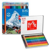 Lápis Mina Aquarelável Caran D'Ache Prismalo com 18 cores - 0999.318 - Carandache