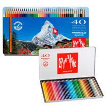 Lápis Mina Aquarelável Caran D'Ache Prismalo com 40 cores - 0999.340 - Carandache