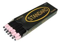 Lápis Preto Descascável Mágico Para Marcar Tecido - 12 Unidades - Standard